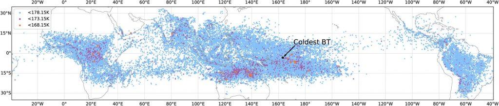 Учёные зафиксировали самое холодное грозовое облако