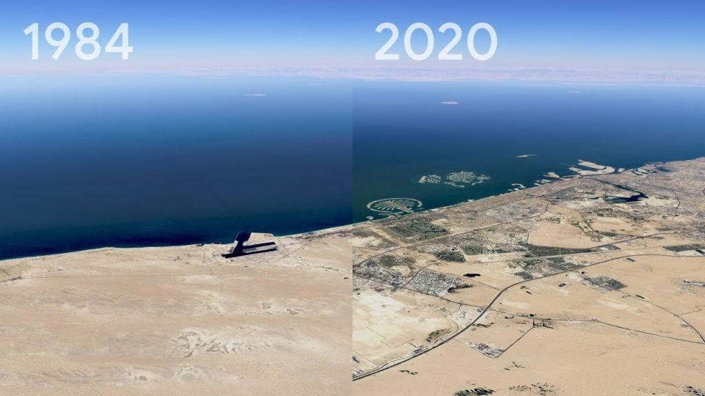 Timelapse: в сервисе Google Earth появилась новая функция