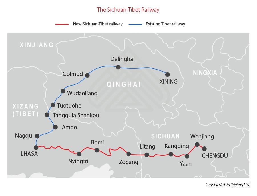 В Тибете открылась скоростная железная дорога