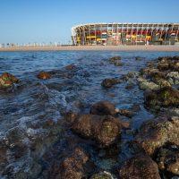 Модульный стадион Ras Abu Aboud в Катаре