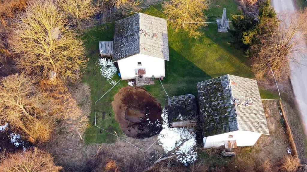 В Хорватии изучают масштабные провалы грунта
